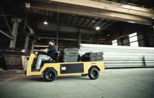 Cushman burden carrier in warehouse