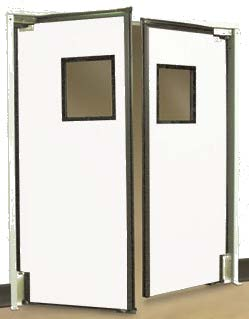 Swining Traffic Impact Doors to keep out noise, visual elements and environmental barriers
