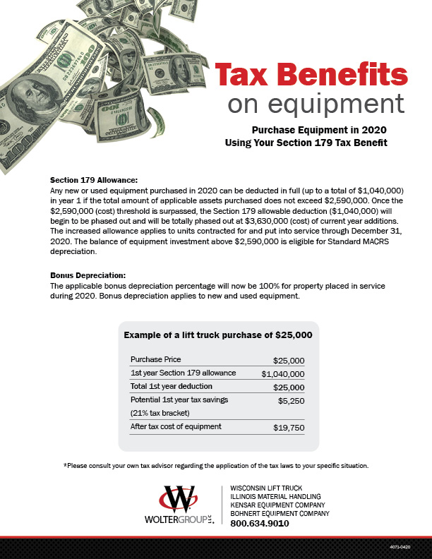 Purchase Equipment in 2020 Using Your Section 179 Tax Benefit